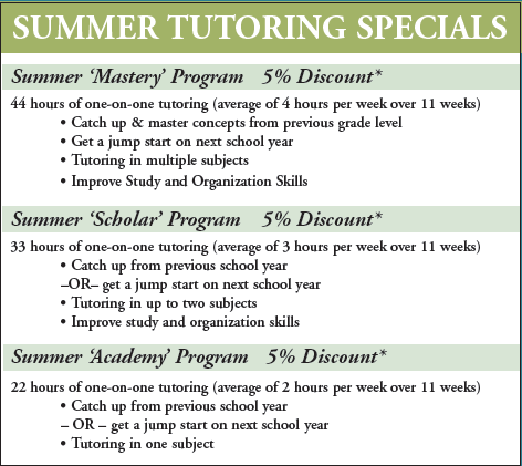 Lees Summit summer tutor and summer tutoring in Lees Summit